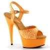 DELIGHT-609UVG Neon Orange Glitter